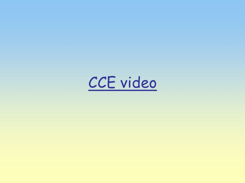 CCE video