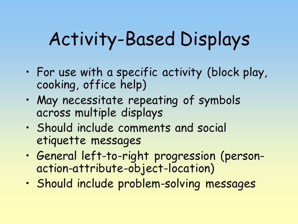Activity-Based Displays