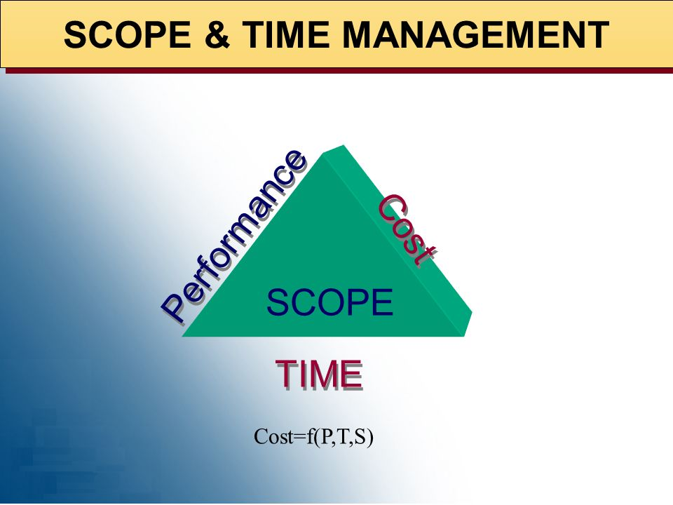 SCOPE & TIME MANAGEMENT