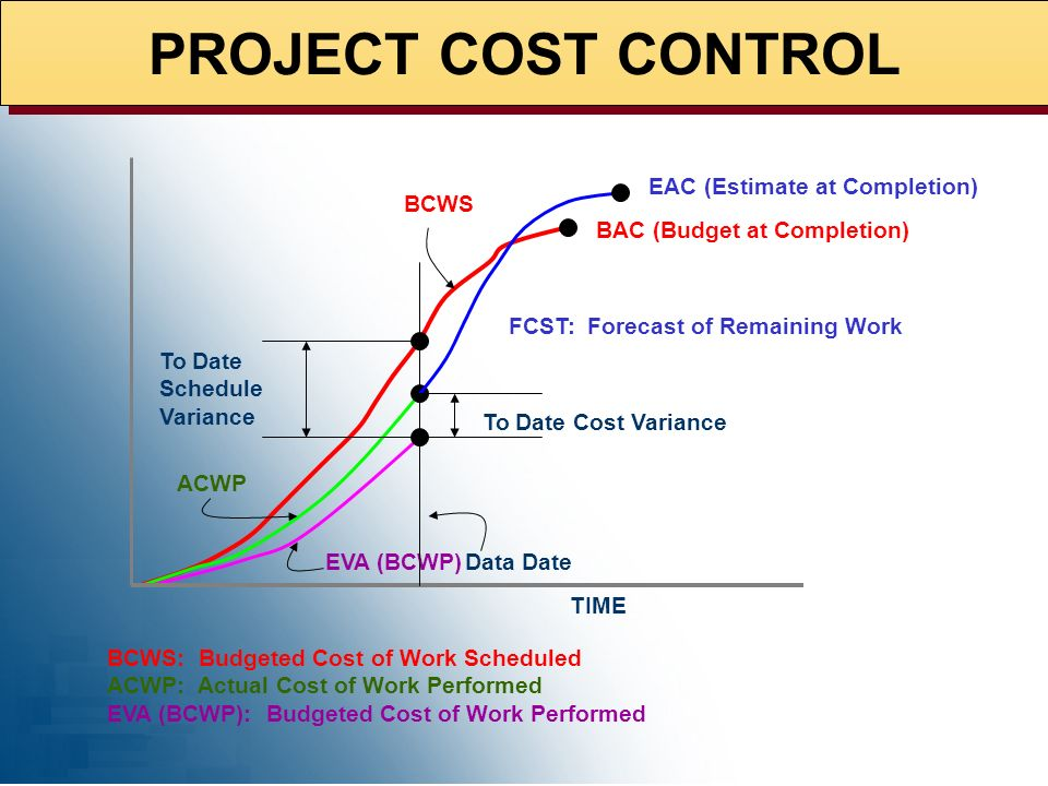 PROJECT COST CONTROL EAC (Estimate at Completion) BCWS