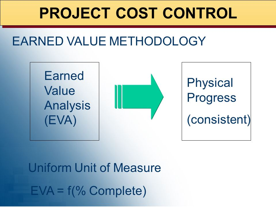 PROJECT COST CONTROL EARNED VALUE METHODOLOGY