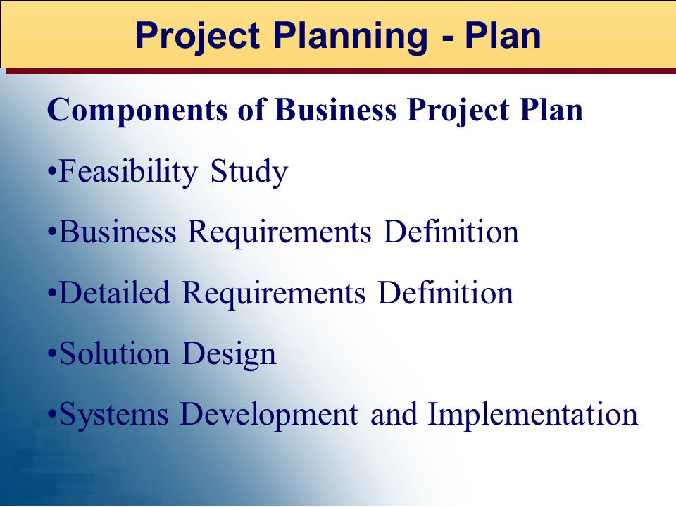 Project Planning - Plan