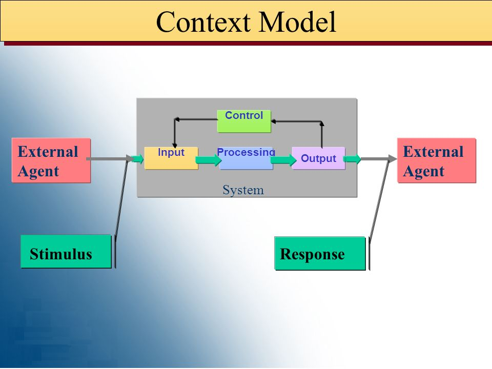 Context Model External Agent Stimulus Response System Processing
