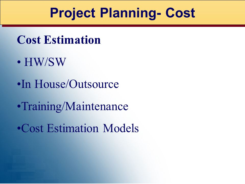 Project Planning- Cost