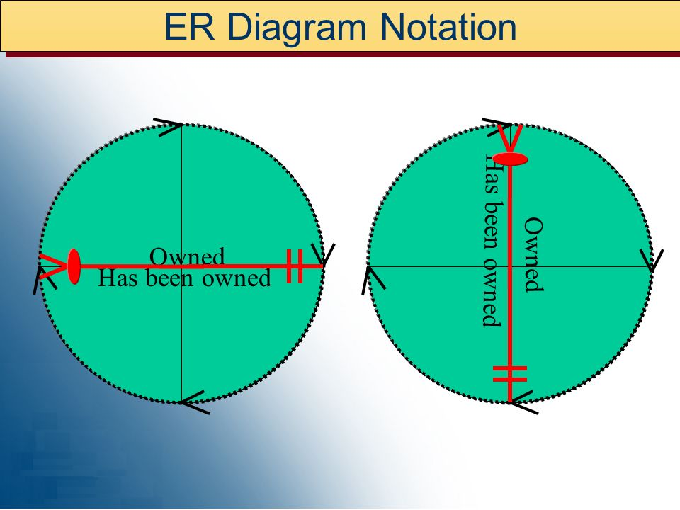 ER Diagram Notation Has been owned Has been owned Owned Owned
