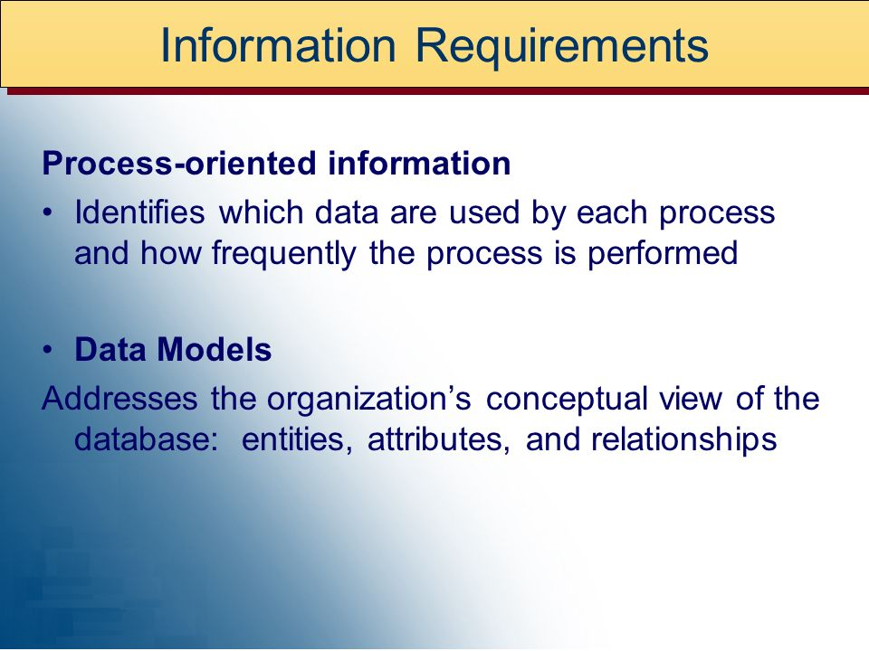 Information Requirements