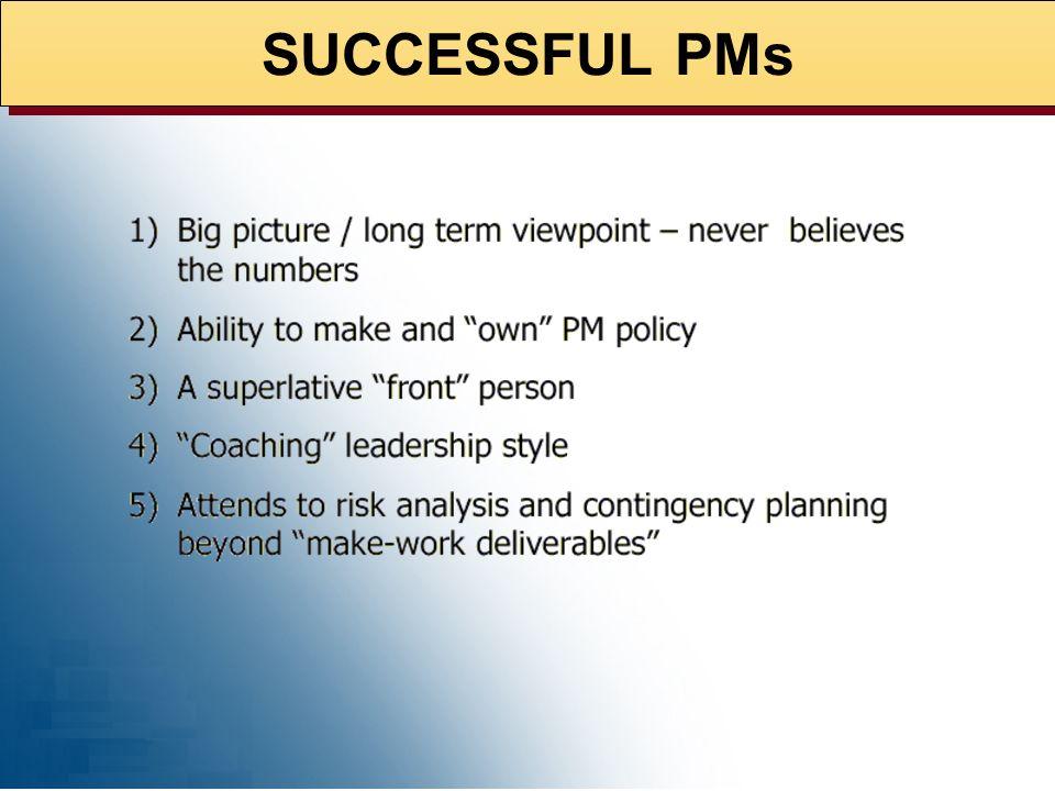 SUCCESSFUL PMs