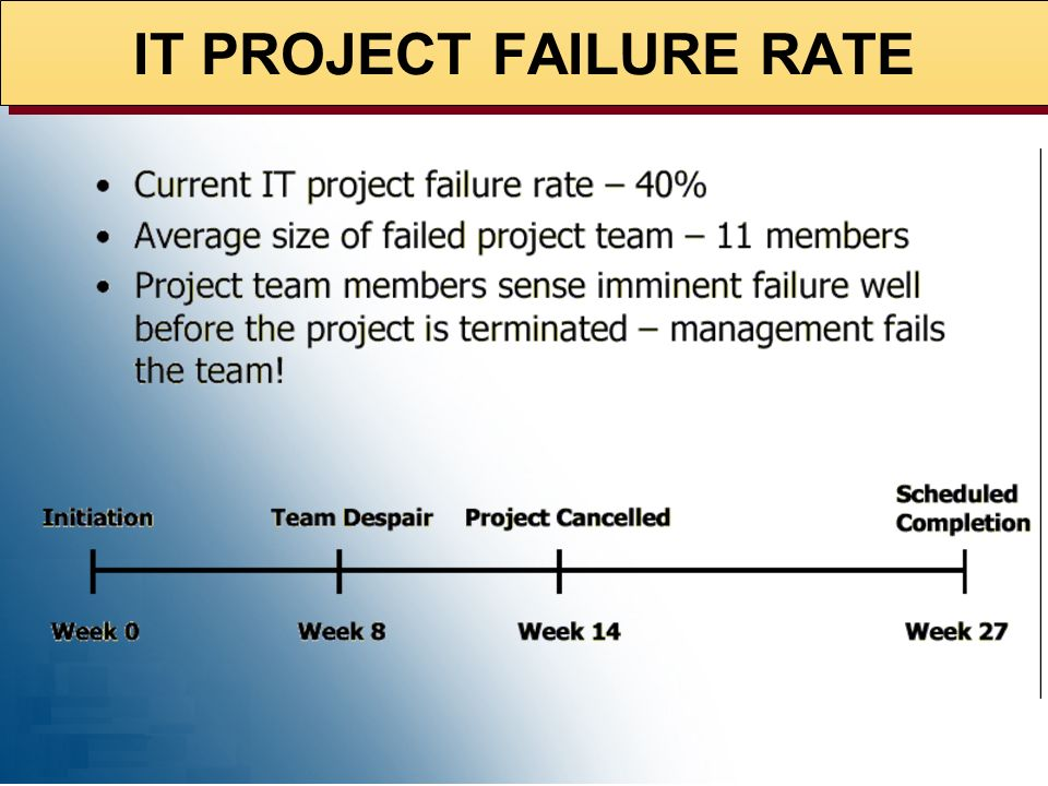 IT PROJECT FAILURE RATE