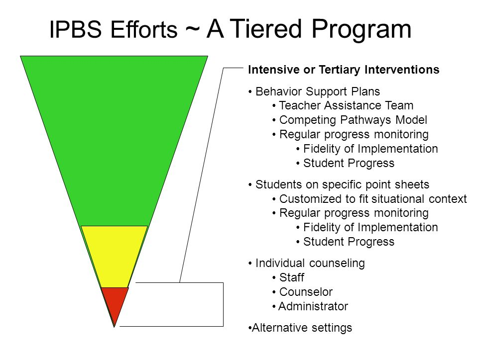 IPBS Efforts ~ A Tiered Program