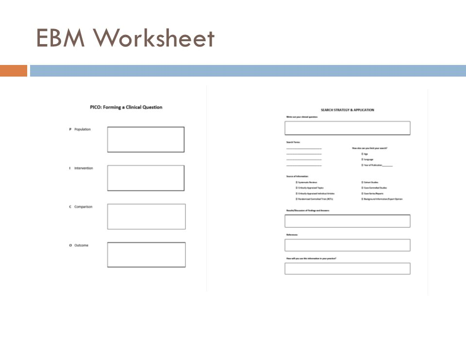 EBM Worksheet