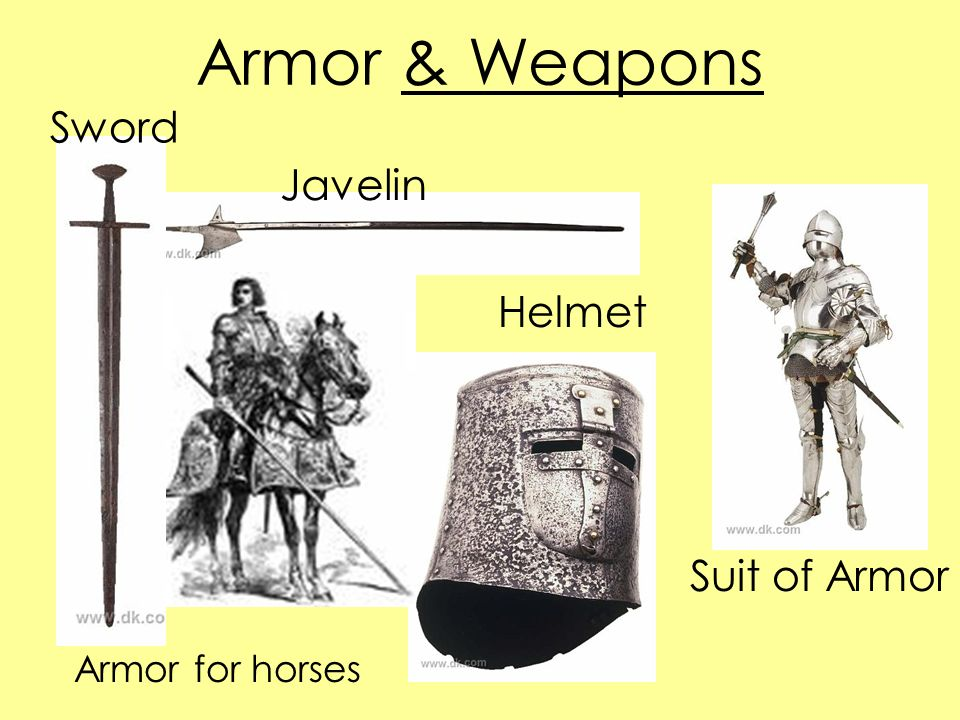 Armor & Weapons Sword Javelin Helmet Suit of Armor Armor for horses