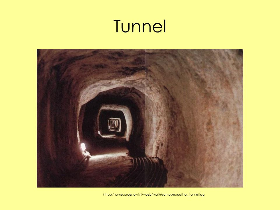 Tunnel http://homepages.cwi.nl/~aeb/math/samos/eupalinos_tunnel.jpg