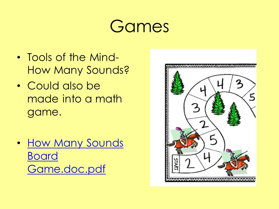 Games Tools of the Mind-How Many Sounds