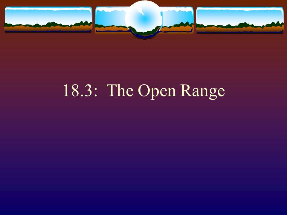 18.3: The Open Range