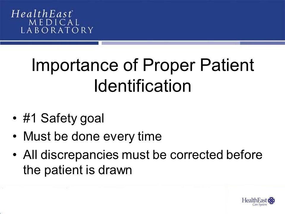 Importance of Proper Patient Identification