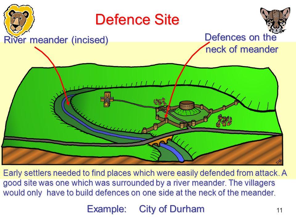 Defence Site Defences on the River meander (incised) neck of meander
