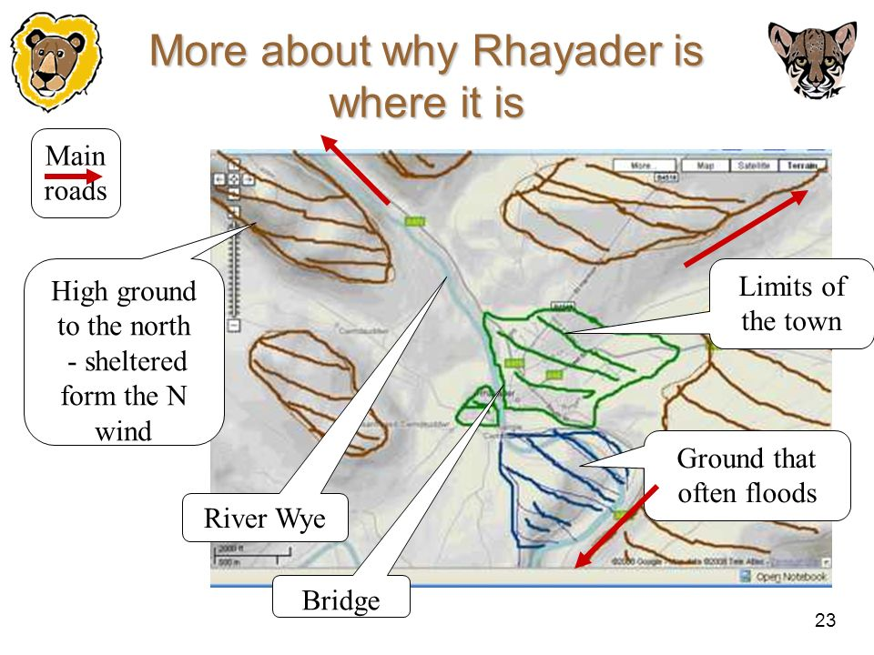 More about why Rhayader is where it is