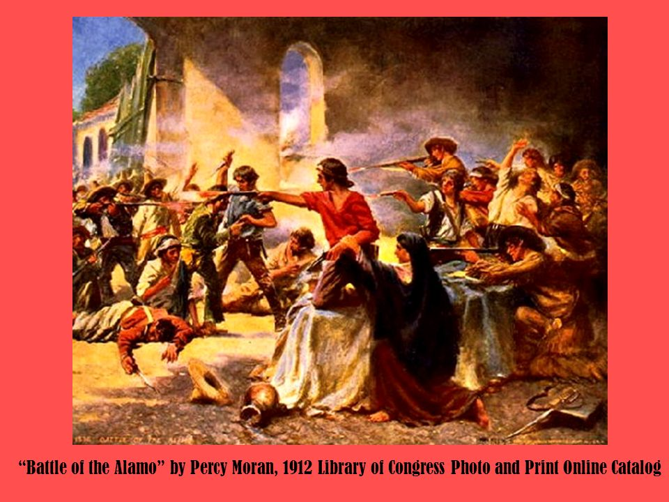 Battle of the Alamo by Percy Moran, 1912 Library of Congress Photo and Print Online Catalog