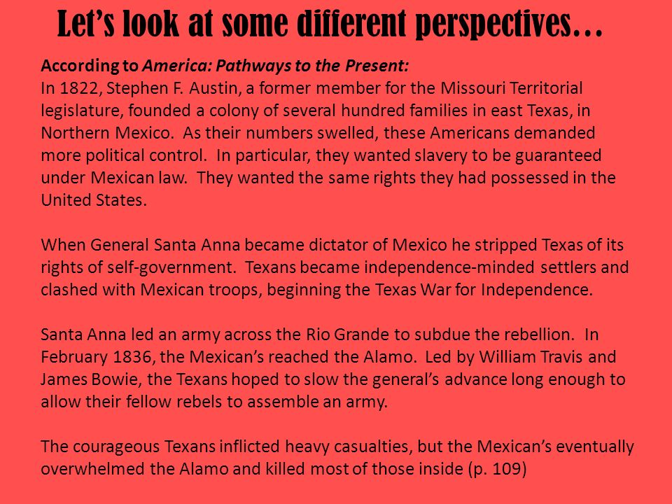 Let's look at some different perspectives…
