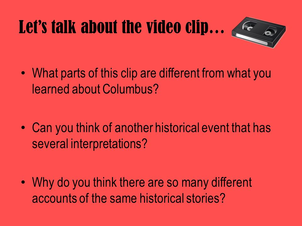 Let's talk about the video clip…