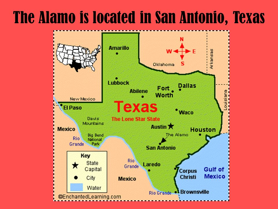 The Alamo is located in San Antonio, Texas