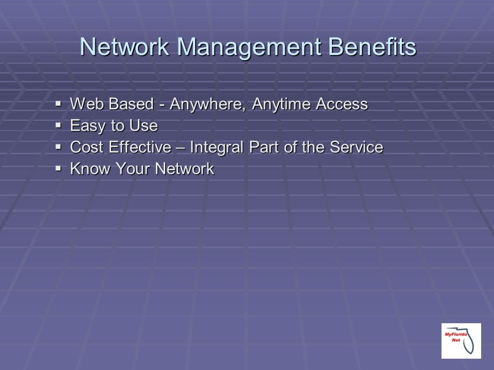 Network Management Benefits