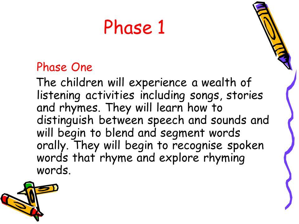 Phase 1 Phase One.