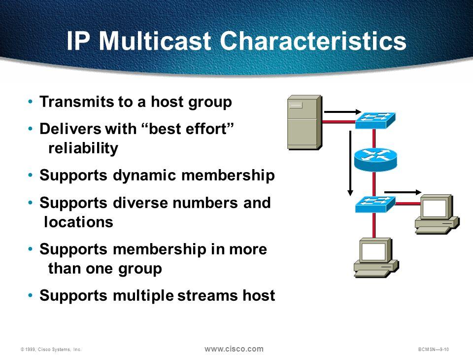 IP Multicast Characteristics