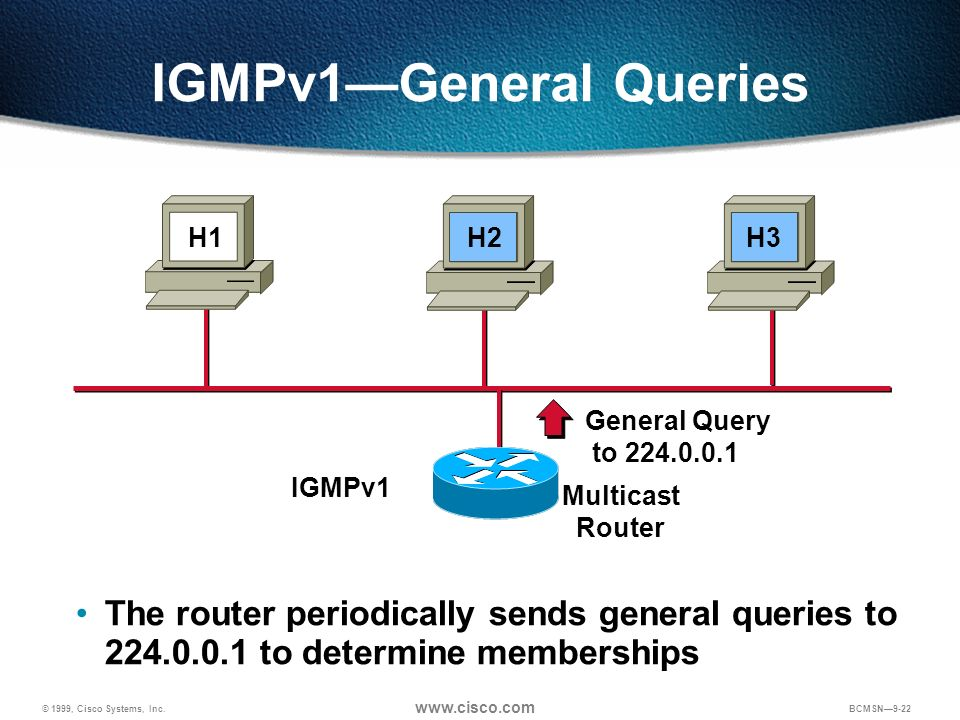 IGMPv1—General Queries
