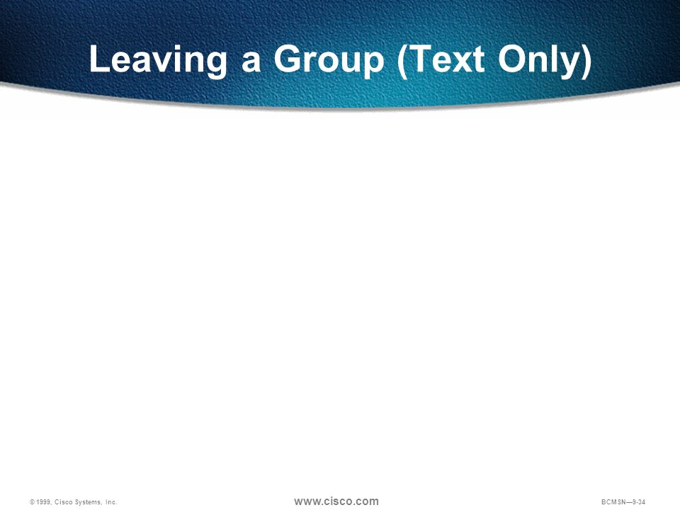 Leaving a Group (Text Only)