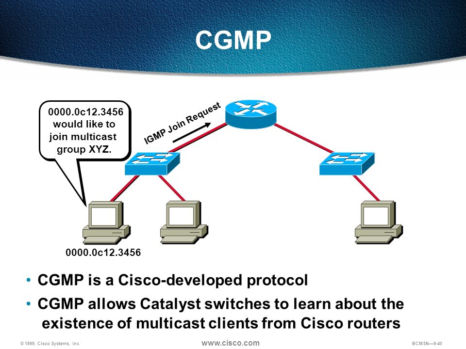 CGMP CGMP is a Cisco-developed protocol