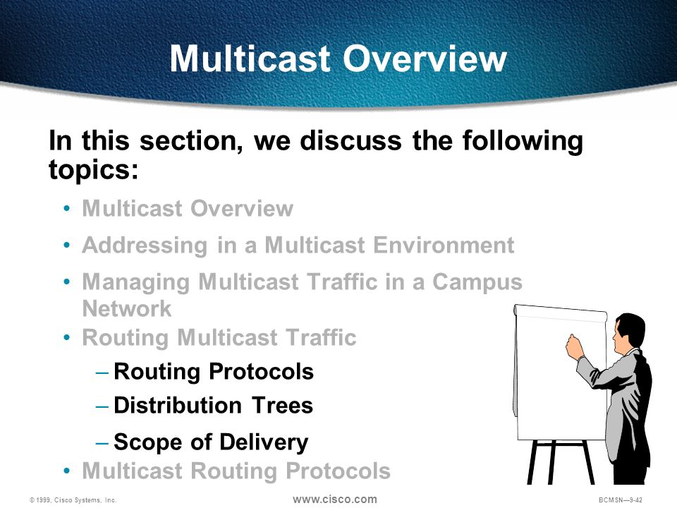 Multicast Overview In this section, we discuss the following topics: