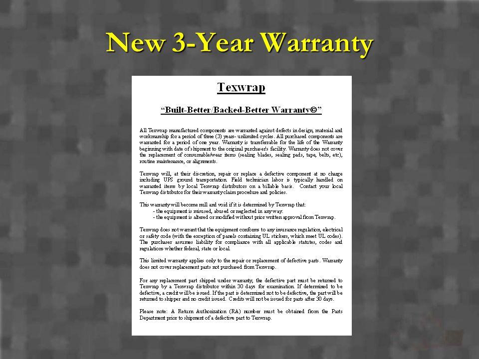 New 3-Year Warranty