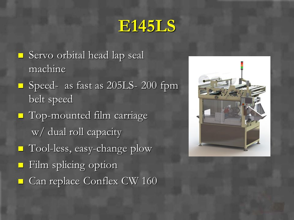 E145LS Servo orbital head lap seal machine