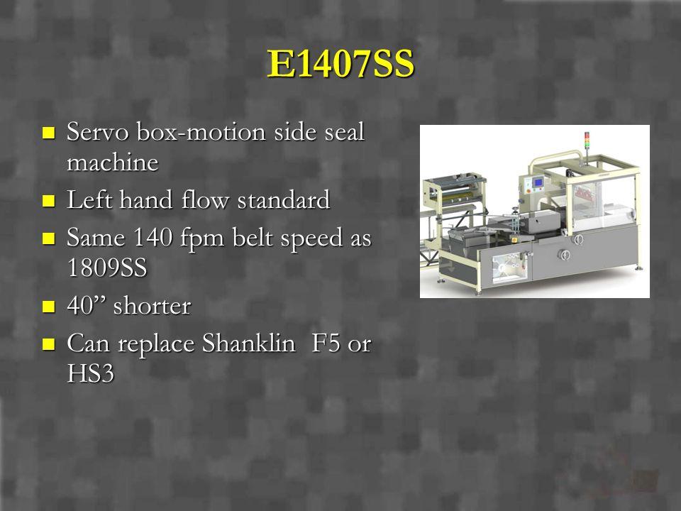 E1407SS Servo box-motion side seal machine Left hand flow standard