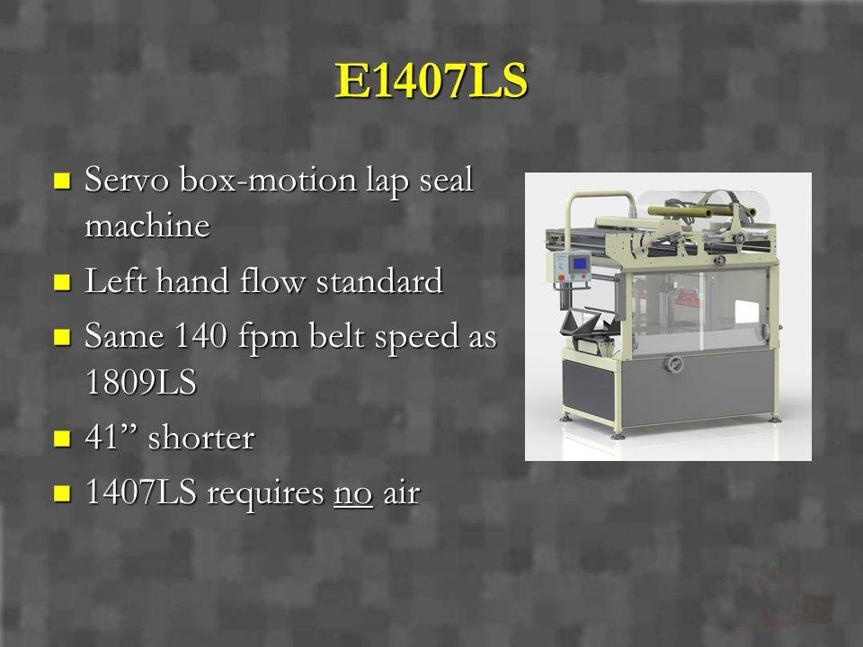 E1407LS Servo box-motion lap seal machine Left hand flow standard