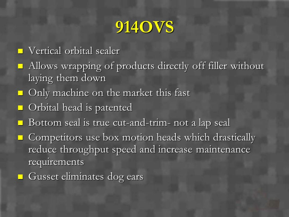 914OVS Vertical orbital sealer