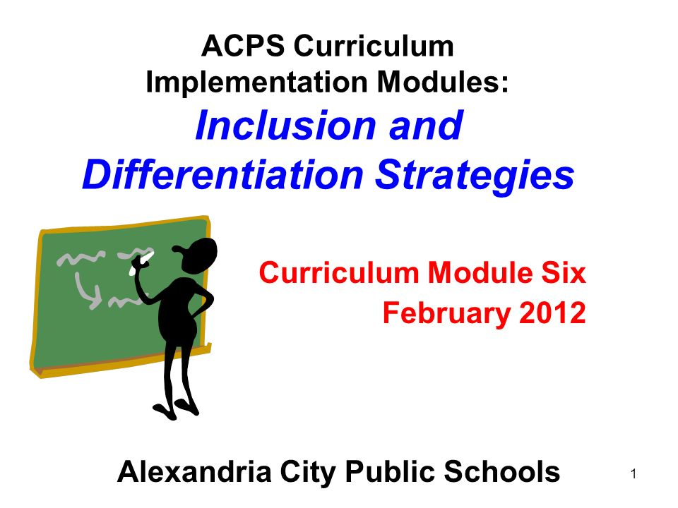 Curriculum Module Six February 2012 Alexandria City Public Schools