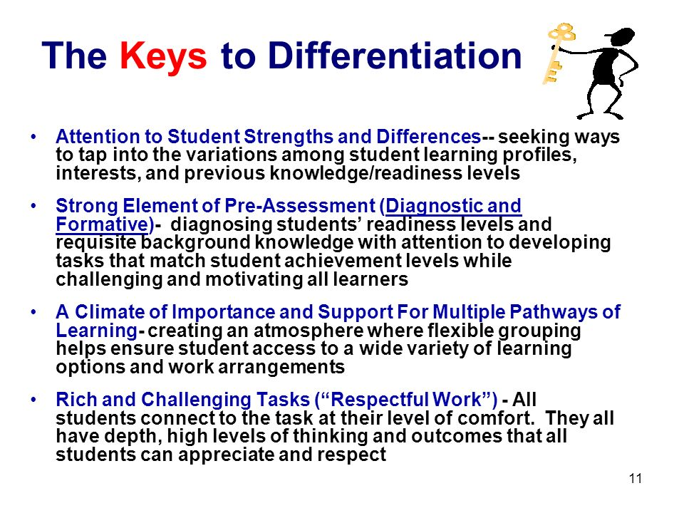 The Keys to Differentiation