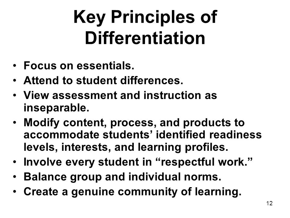 Key Principles of Differentiation