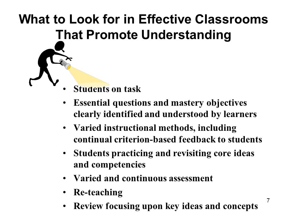 What to Look for in Effective Classrooms That Promote Understanding