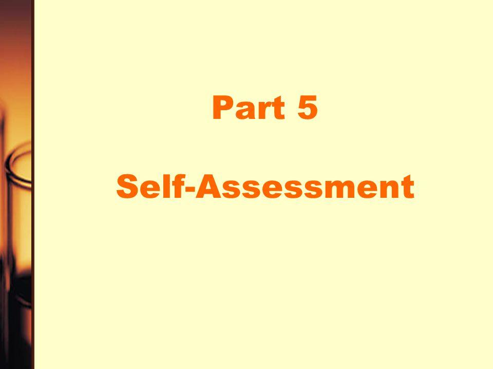Part 5 Self-Assessment