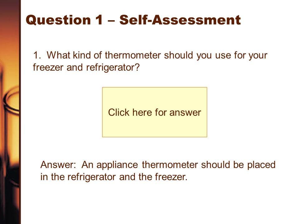 Question 1 – Self-Assessment
