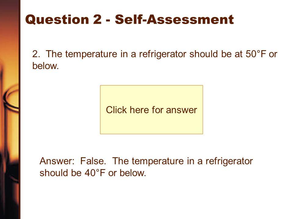 Question 2 - Self-Assessment