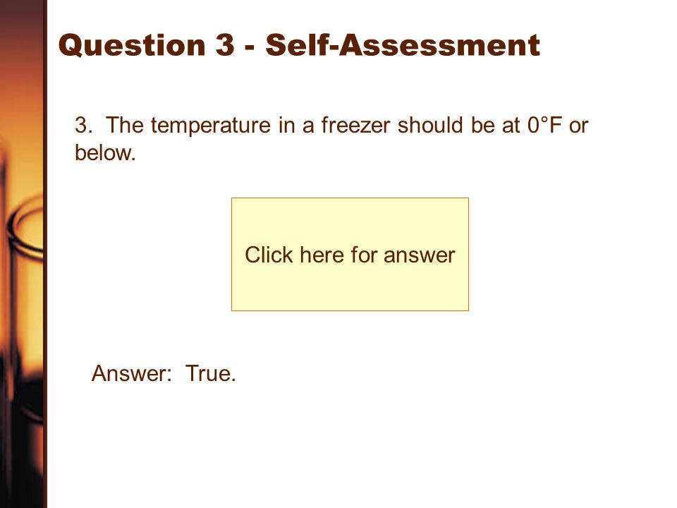 Question 3 - Self-Assessment