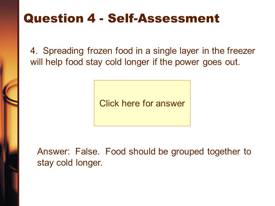 Question 4 - Self-Assessment