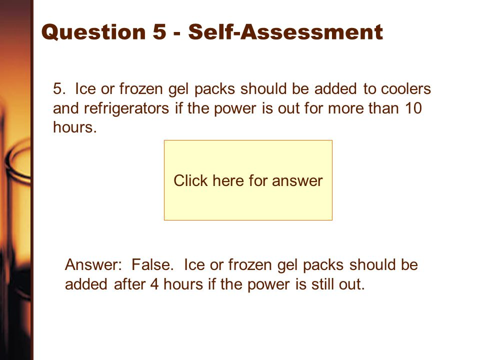 Question 5 - Self-Assessment