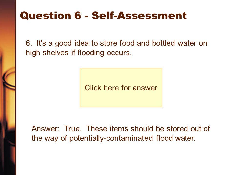 Question 6 - Self-Assessment