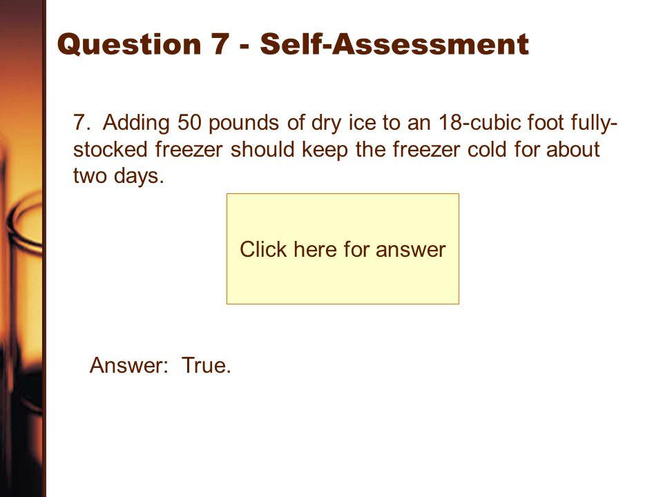 Question 7 - Self-Assessment
