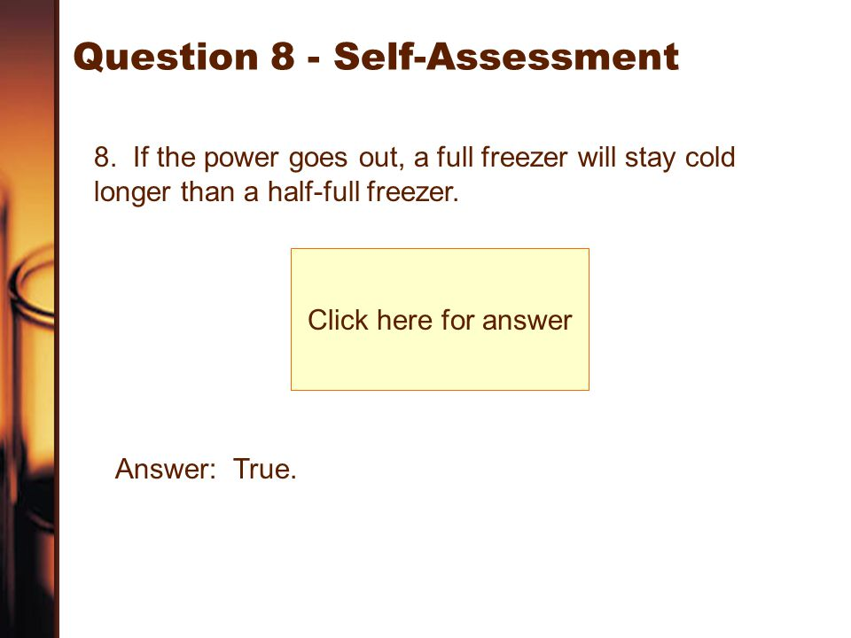 Question 8 - Self-Assessment